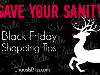 Here are some Black Friday shopping tips you'll want to keep in mind, that might help you save your sanity when shopping this weekend.