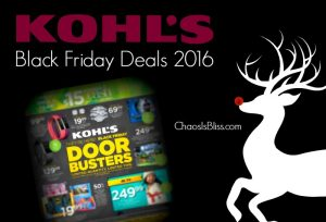 Here are my top picks for the Kohl's Black Friday Deals 2016!
