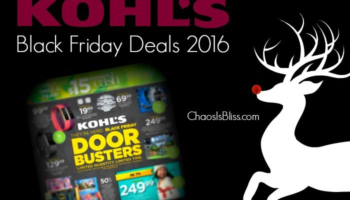 Kohl's Black Friday Deals 2016