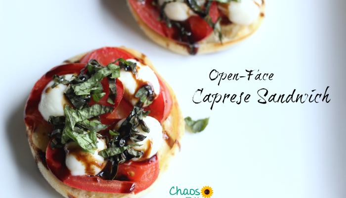Open-Face Caprese Sandwich Recipe