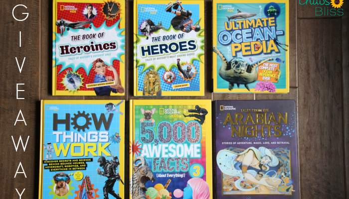 National Geographic Kids books are such a wonderful way to foster kids' love of learning, and I'm giving away a set of hardcover books!