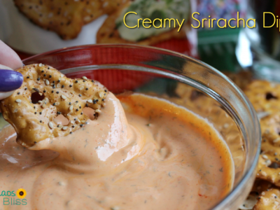 Spice up your playoff game party with this Creamy Sriracha Dip recipe, perfect for fresh veggies, potato chips and pretzels!
