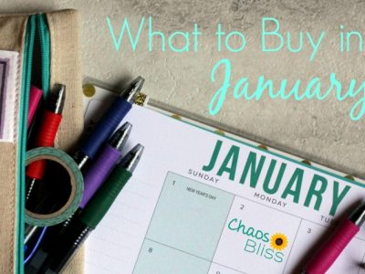 What to buy in January to spend less