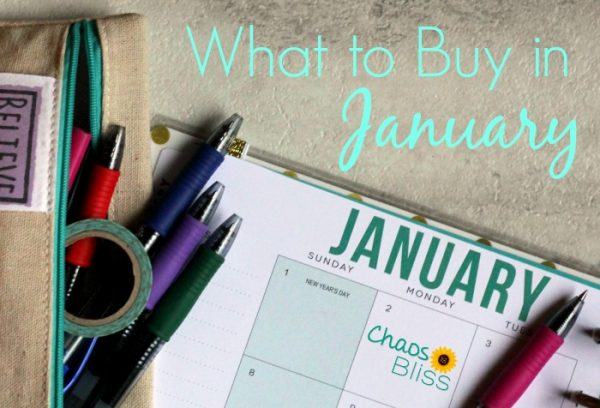 It's the beginning of the year and you want to save money. What to buy in January?