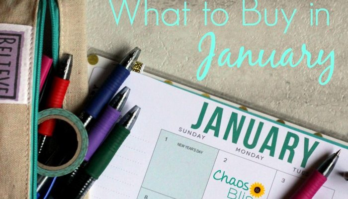 What to Buy in January in Order to Spend Less