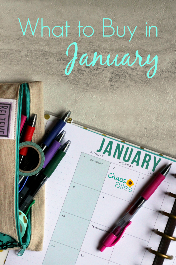 It's the beginning of the year and you want to save money. What to buy in January in order to spend less?