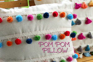 DIY No Sew Pom Pom Pillow | No Sew Tassel Pillow