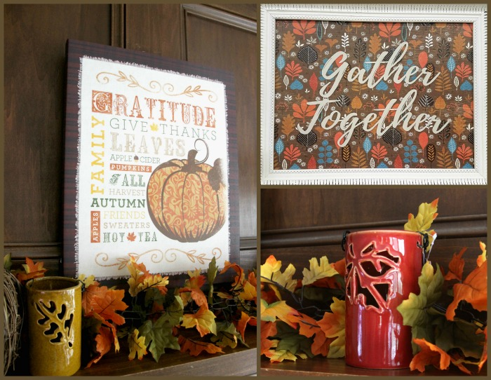 Fall Mantel Decor, how to style a mantel for Fall