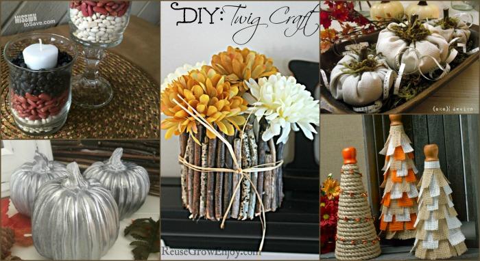Gorgeous DIY Fall mantel decor