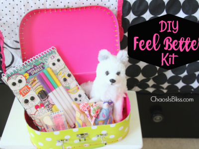 Children getting sick is the absolute worst, but this DIY Feel Better Kit can help brighten their spirits when kids fall ill!