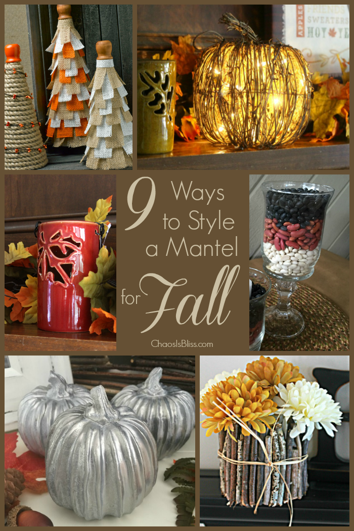 If you're looking for fresh ideas for DIY Fall mantel decor, here are 9 ways to style a mantel for Fall - perfect for fall crafts!