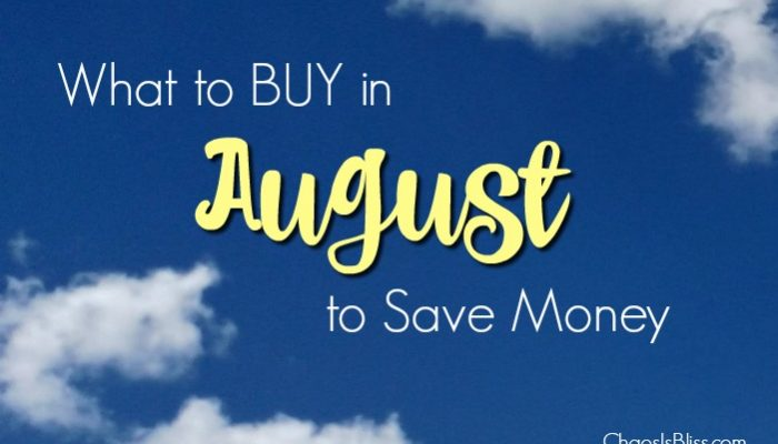 What to Buy in August to Save Money