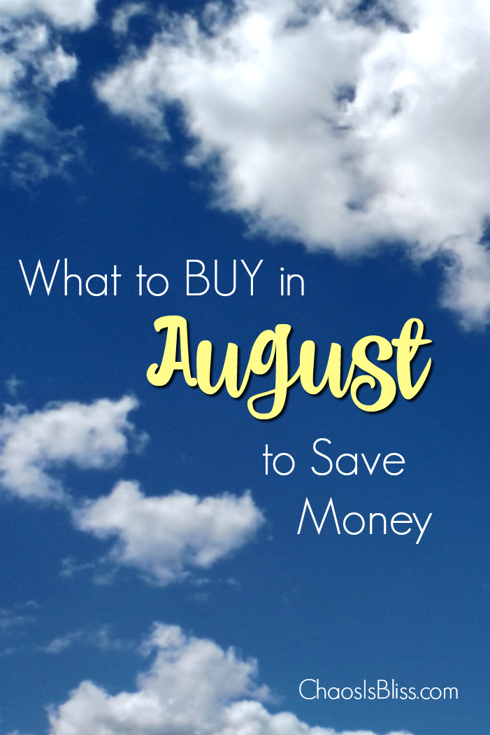Summer is winding down, so let's talk about what to buy in August to save money. What's at the year-round lowest prices, that you might want to grab before the price goes back up?