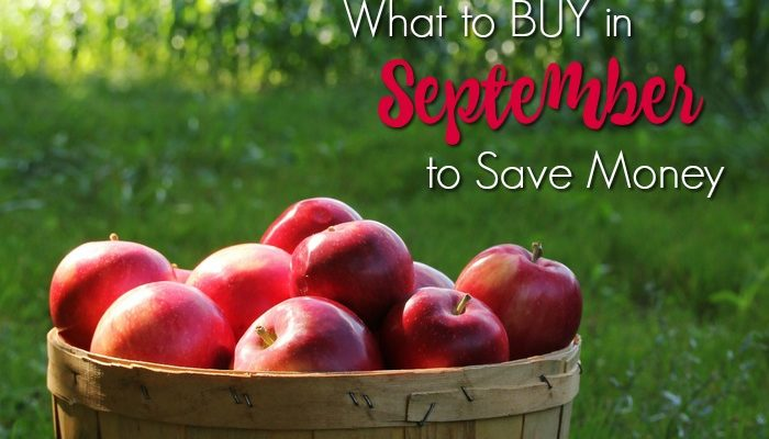 What to Buy in September to Save Money