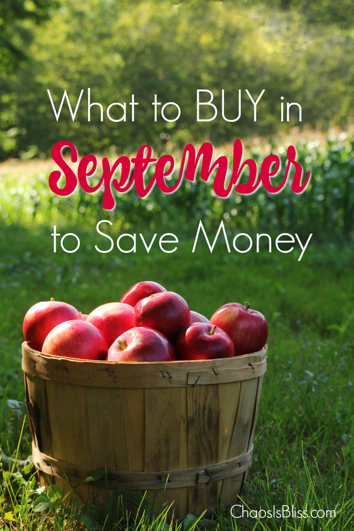 What should you buy in September to save money? What are some money saving tips to save in September?