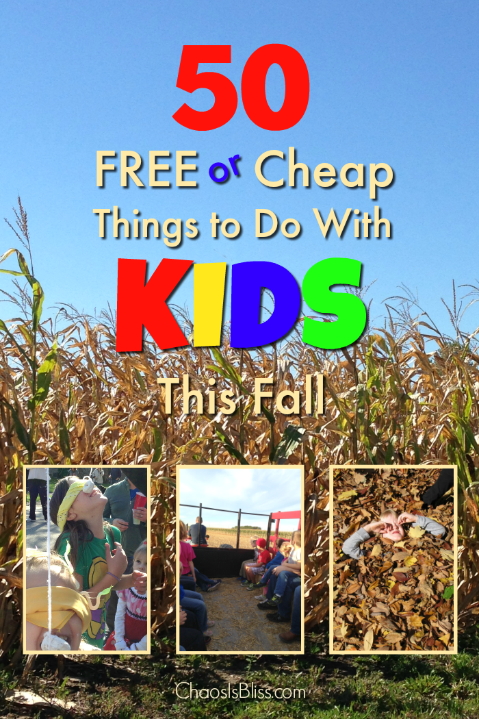 50 Free and cheap things to do with kids this Fall, for frugal family fun!