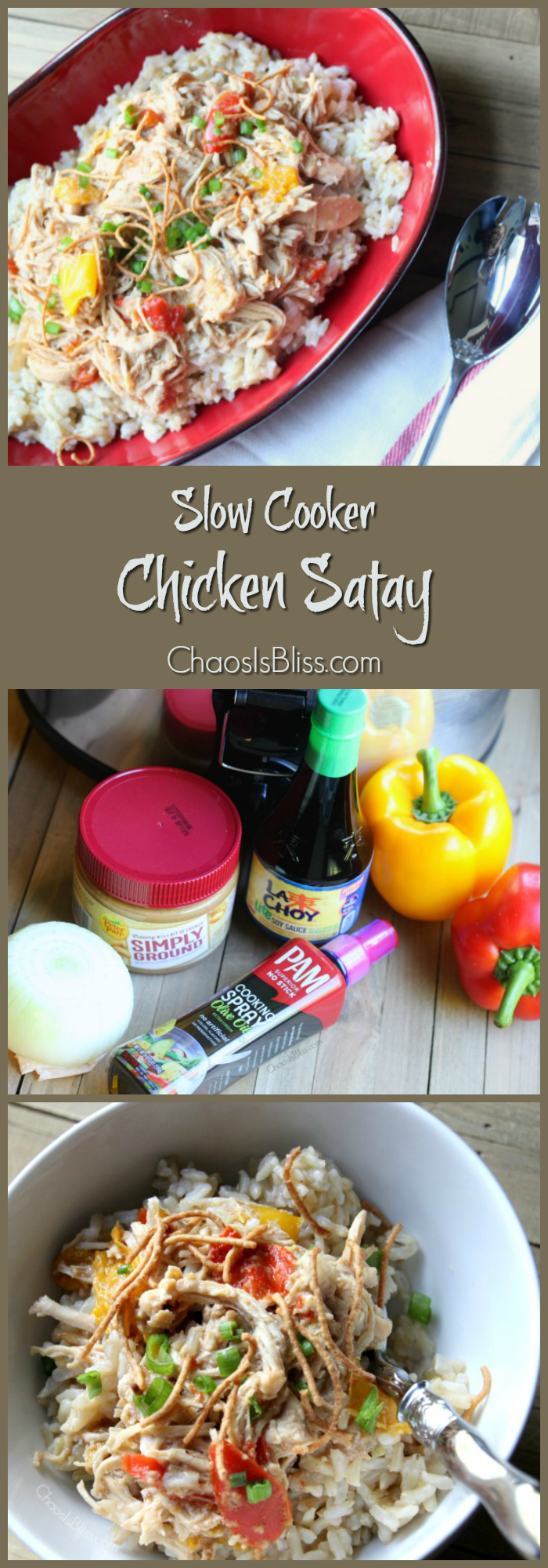 Here's an easy and mild slow cooker chicken satay recipe that adds just the right heat without being too spicy!