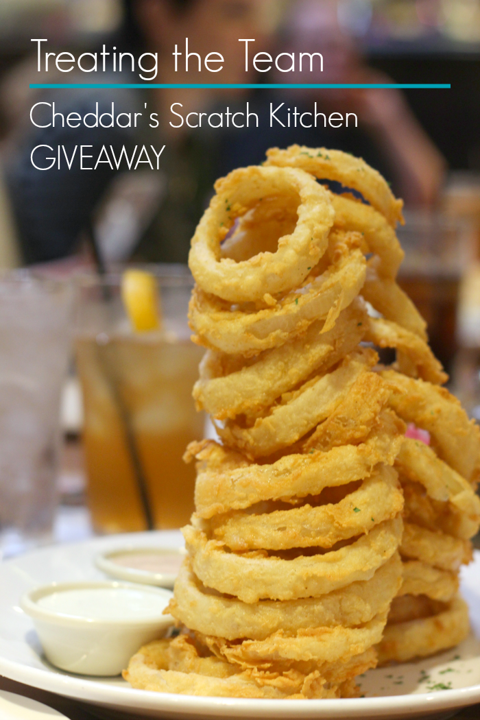 Enter to win a $100 Cheddar's Scratch Kitchen gift card and prize pack!