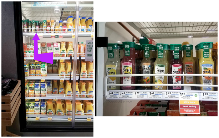 All kinds of Simply Juice flavors can be found at Giant Eagle stores.