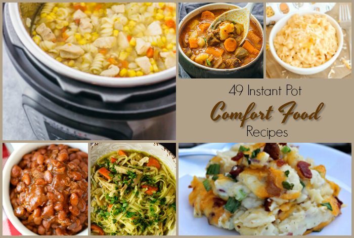 Warm, hearty and perfect for this season ... Instant Pot comfort food recipes for soups and stews, beef, chicken pork and more in your Instant Pot!