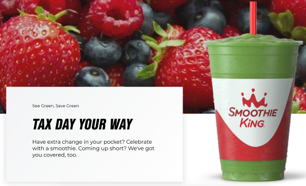 Smoothie King Tax Day