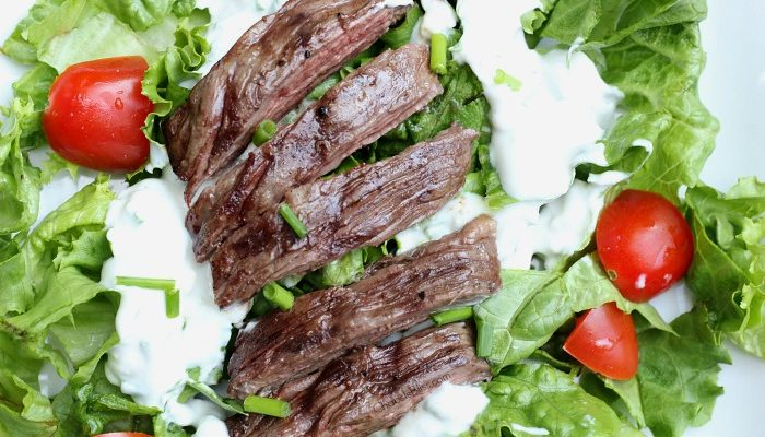 Black and Blue Salad with Homemade Blue Cheese Dressing Recipe