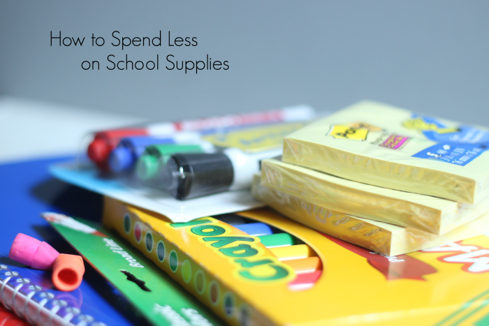 How to spend less on school supplies