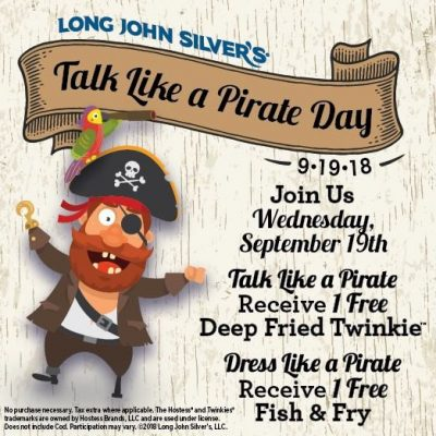 LJS Talk Like a Pirate Free Deep Fried Twinkie
