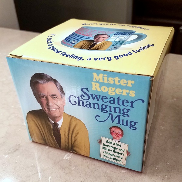 Mister Rogers Sweater Changing Mug gift box
