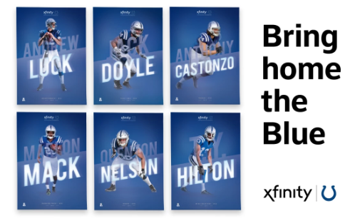 FREE Indianapolis Colts Player Poster from Xfinity