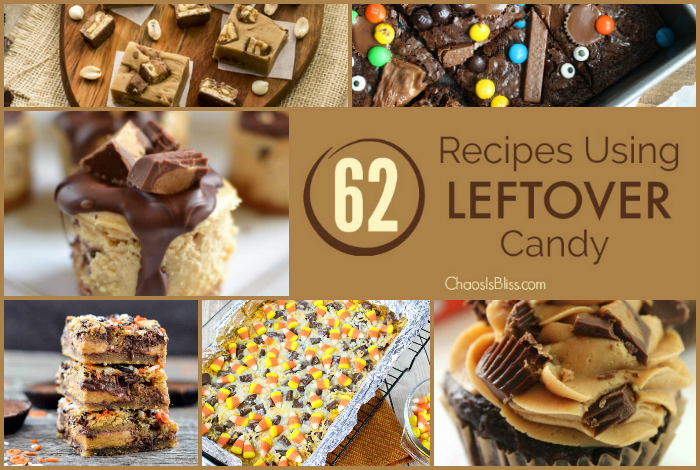 It's a hard thing to even imagine having leftover candy, but if you find yourself in that most difficult predicament, here are 62 recipes for leftover candy that are sure to provide the solution!