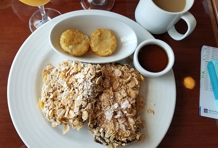 Don't miss the Carnival Cruise Frosted Flakes French Toast!