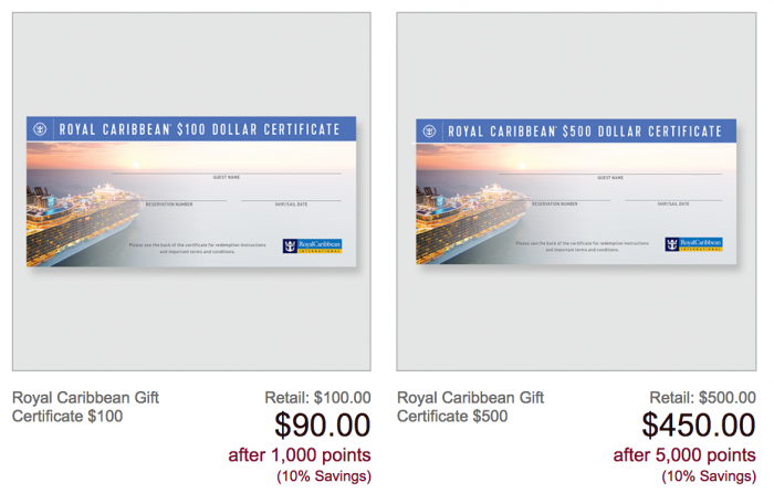 AARP Rewards for Goods Royal Caribbean gift card