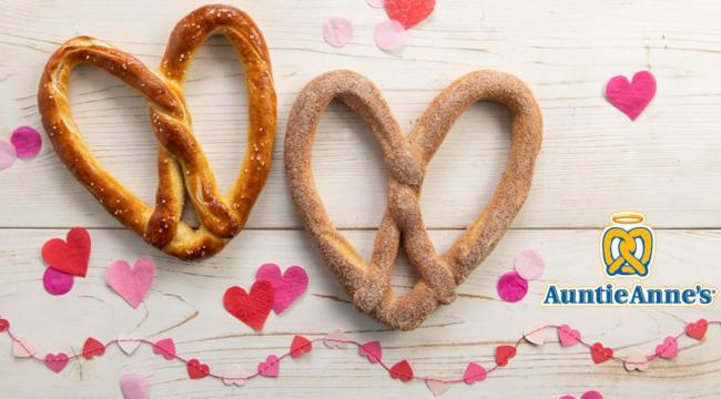 Auntie Annes heart pretzel