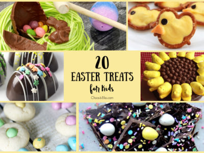 Enjoy these easy to make, 20 Easter treats for kids including Easter cookies, Peeps recipes and more ways to enjoy Spring with fun treats!